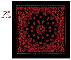 Rothco Trainmen Bandana Black/Red