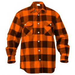 Flanellskjorte Mr Rothco Orange / Black