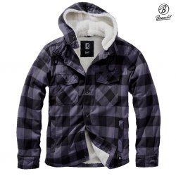 Brandit Lumberjacket hooded - Gray/Black