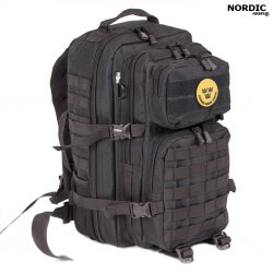 Nordic Army® Assault Ryggsekk net pocket 28L - Svart