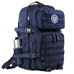 Nordic Army® Assault ryggsekk nettlomme 28L - Navy Blue