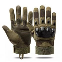 Tactical Outdoor Touch Screen Gloves - Army Green