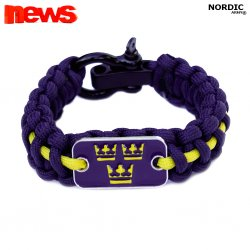 Royal Crown Paracord Bracelet- Navy Blue/Yellow