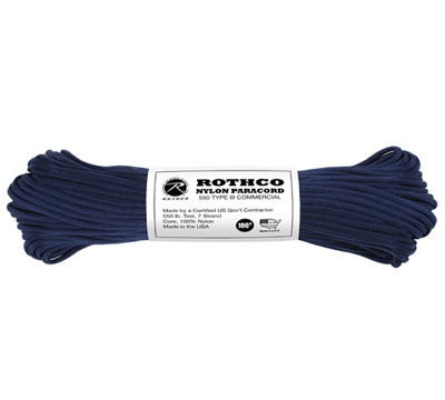 Paracord US Original MIDNIGHT Blå 30meter