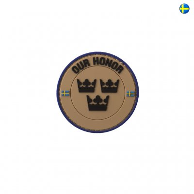 3D PVC Swedish Patch Our Honor - Sand