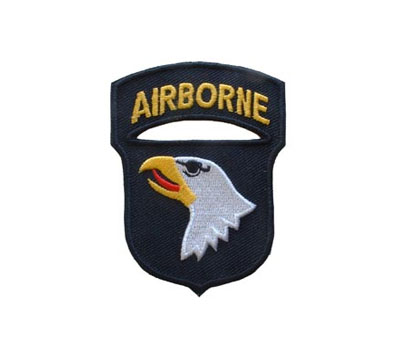 US AIR BORN tygmärke