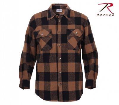 brun canvas skjorte