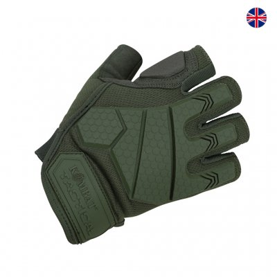 Brittisk Alpha Fingerless Tactical Handskar - Green