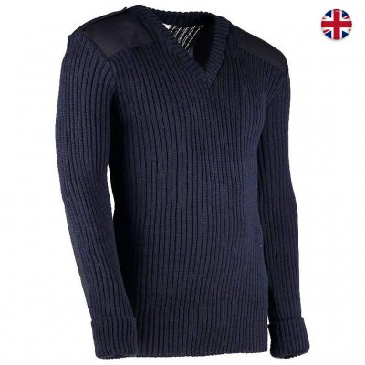 Woolly Pully Military Nato Knitwear - Navy Blue