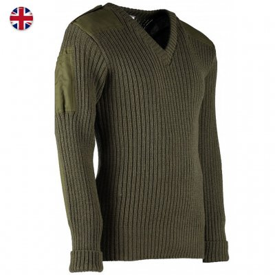 Woolly Pully Military Nato Knitwear - Green