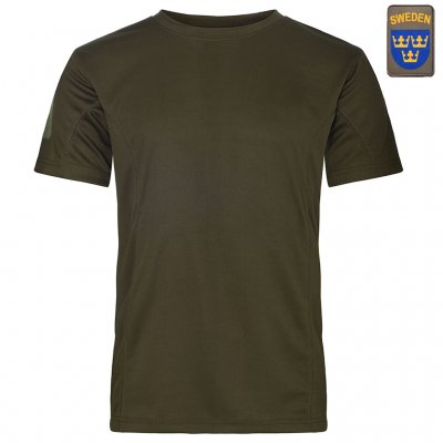 Nordic Army® Quick Dry T-Shirt - Army Green - Swedish Patch