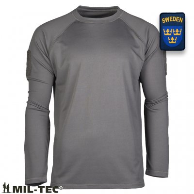 OD TACTICAL LONG SLEEVE SHIRT QUICKDRY - Gray