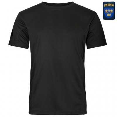 Nordic Army® Quick Dry T-Shirt - Black - Swedish Patch