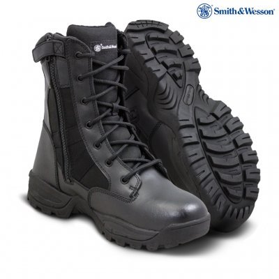 SMITH & WESSON® Breach 2.0 Men's Tactical Waterproof Side Zip Boots Black