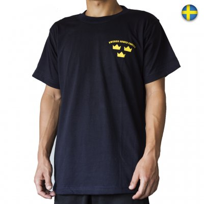 Nordic Army T-Shirt - SWEDISH ARMED FORCES - Navy Blue - T-Shirts ... a262576d2903a